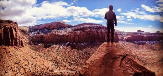 Indian Creek Bears Ears Climbing Panorama